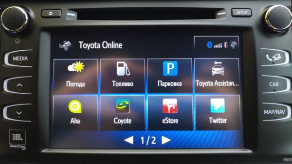 блоки дооснащения навигацией Toyota