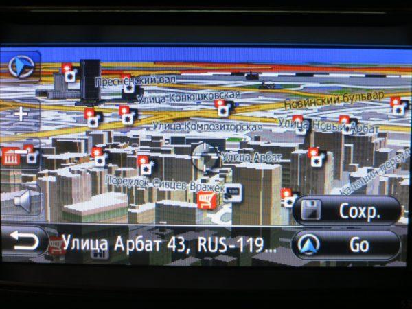 карта Toyota Touch and Go Plus